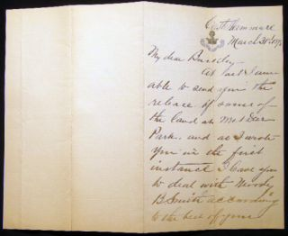 1892 Group of Manuscript Letters from William Brewster Valentine, Touring Italy & Switzerland, to His Lawyer Charles P. Buckley in NYC, Regarding Land Transactions, Lawsuits and Investments.