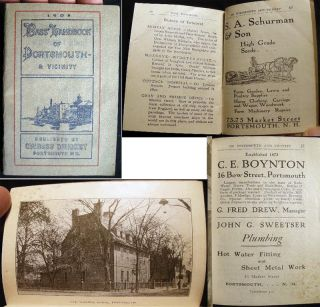 1908 Bass' Handbook of Portsmouth - & Vicinity. Americana - 20th Century - Guidebook - Portsmouth...