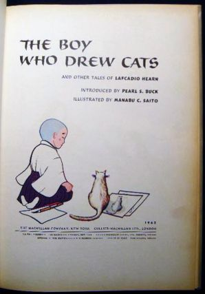 The Boy Who Drew Cats Signed and Inscribed By the Illustrator, Manabu C. Saito
