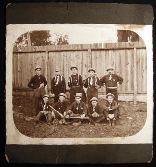 "Circa 1890 8"" x 10"" Photograph of a Baseball Team By Henry Hohenstein Photographer New York"