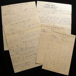 1878 Letters, Western Agent for the Canada Southern Railway Lines, Chicago