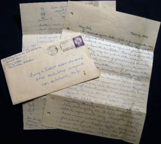 1956 Letter from a Serviceman Stationed at Corry Field Pensacola Florida U.S. Navy Training...