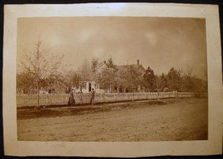 Circa 1870 Cabinet Card Photograph of a Street Scene By Charlie E. Orr Photographic Artist...