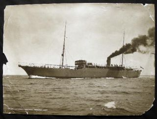 1922 Large Format Photograph of Cable Ship John W. MacKay By Frank & Sons, Marine Photographers, South Shields