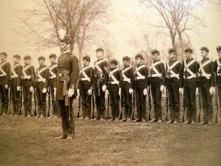 Circa 1875 Military Academy Full Dress Uniform Group Photograph By Pach Brothers New York