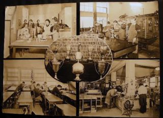 Circa 1935 Group of Large Format Photographs of Pearl River High School Rockland County New York...