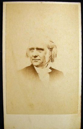 Carte-de-Visite Photograph of Free Church of Scotland Minister and Philanthropist Thomas Guthrie...
