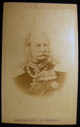 Carte-de-Visite Photograph of William King of Prussia. Photography - 19th Century - Germany -...
