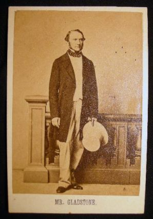 Carte-de-Visite Photograph of William Ewart Gladstone. Photography - 19th Century - Great Britain