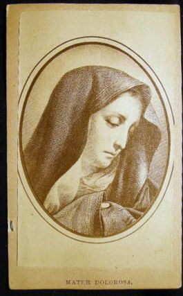 Carte-de-Visite Photograph Portrait of a Painting of Our Lady of Sorrows the Mater Dolorosa....