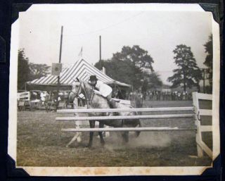 Circa 1935 - 1940 Album of Photographs: Florida & New Jersey Locations, Horses & Equestrian,...