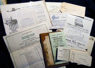 Circa 1918 - 1930 Collection of Business Records of John H. Ernhout, Lumber Company in Livingston Manor, New York