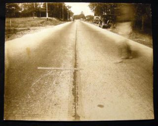 1929 Group of Large Format Photographic Surveys of an Automobile Accident Scene in Patchogue, Long Island N.Y. By Arthur S. Greene, Photographer of Port Jefferson, N.Y.