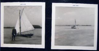1968 Two Photographs of Ice Boating. Americana - 20th Century - Photography - Sporting History -...