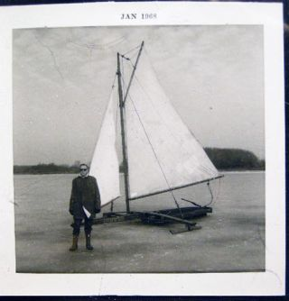 1968 Two Photographs of Ice Boating