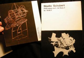 1974 - 1991 Collection of Artists' Catalogs, Ephemera & Photographs of Sculptural Works By Gunter Roth