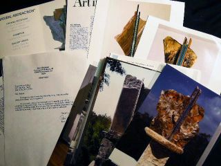 Ron Mehlman Sculpture Art Gallery Flyer, Photographs of Works, Typed Letter Signed from the...
