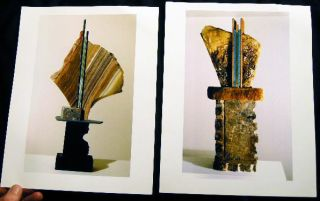 Ron Mehlman Sculpture Art Gallery Flyer, Photographs of Works, Typed Letter Signed from the Artist