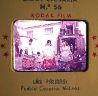 Circa 1958 Group of Color Slides of Barcelona Gran Canaria Tenerife Mallorca Cuevas-Grottes....