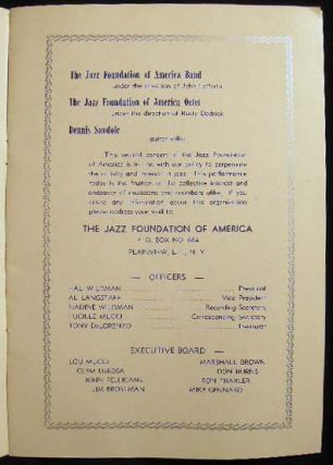 The Jazz Foundation of America Presents in Concert...Sunday, May 18th, 1958