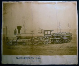 1867 Large Format Photograph of the Steam Locomotive A.M. Ramsdell Built By the Manchester...