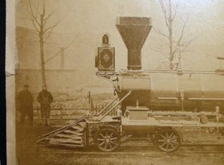 1867 Large Format Photograph of the Steam Locomotive A.M. Ramsdell Built By the Manchester Locomotive Works, New Hampshire; Photo By A.D. Stark