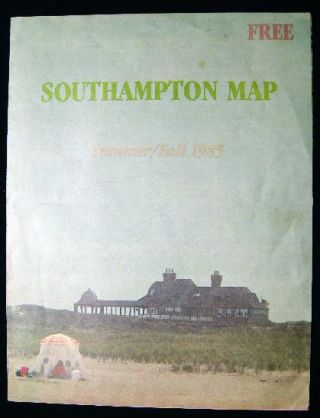 Southampton Map Summer/Fall 1985. Americana - 20th Century - New York - Southampton Long Island