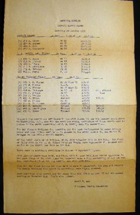 1951 Typed Broadside Official Results of the Convair Trophy Races Saturday 20 October the First...