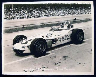 "1964 8"" x 10"" Lloyd Ruby Indianapolis Motor Speedway Photograph. Americana - 20th Century -..."