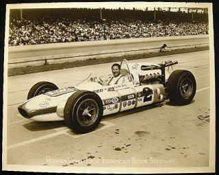 "1964 8"" x 10"" Roger Ward Indianapolis Motor Speedway Photograph. Americana - 20th Century -..."