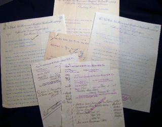 1898 Collection of Letters, Business Correspondence, Bills & Receipts concerning the Norwalk Iron Works, South Norwalk Connecticut