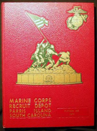 United States Marine Corps Recruit Depot Parris Island South Carolina Platoon 366 1972. Americana...