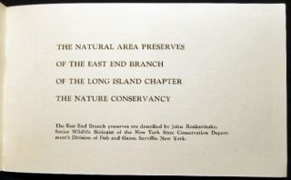 The Natural Area Preserves of the East End Branch of the Long Island Chapter The Nature Conservancy