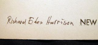 1984 Inscribed and Signed Photograph of Cartographer and Artist Richard Edes Harrison (with) Related Ephemera