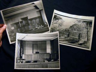 Circa 1950 Three Photographs Illustrating the Work of Architectural Firm Behee & Kahmer...
