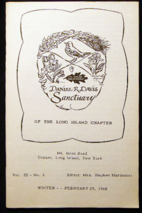 Daniel R. Davis Sanctuary of the Long Island Chapter The Nature Conservancy Vol. III - No. 2...