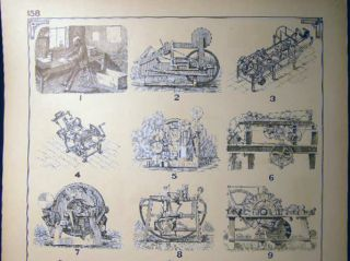 Early Paper Manufacturing & Folding Machines