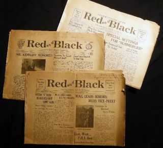 1949 Red and Black Patchogue High School Newspaper Twenty-Third Year, No.'s. 1, 2, 3. Americana -...