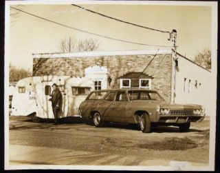 Circa 1970 Photographer Stanley Ehrenberg in Front of His Fotomobile & Studio Premises Long...