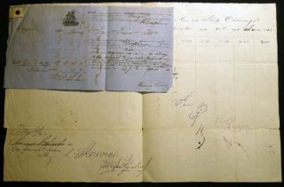 1863 Port of Philadelphia Manuscript Bill of Lading Entry of Merchandise Customs Duties for the...
