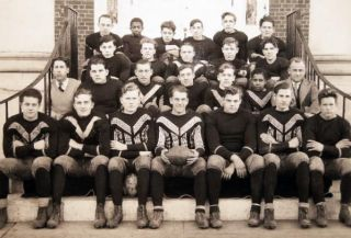 C. 1930 Large Format Photograph of the Southampton Long Island New York High School Football Team By Morris Studio