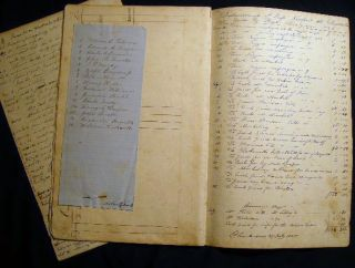 1825 - 1835 Manuscript Supercargo Accounts for the Brig Diomede, Schooner William, Schooner Milo,...