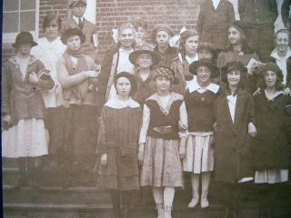 Circa 1915 Class Photograph - One Girl Scout. Americana - 20th Century - Photography - education