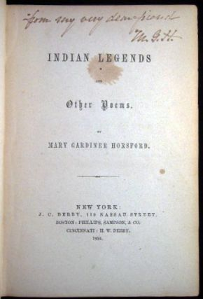 Indian Legends and Other Poems.