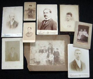 Circa 1880- 93 (9) Photographs: Cartes-de-Visite & Cabinet Cards: Richmond VA By Wevere, NY Art...