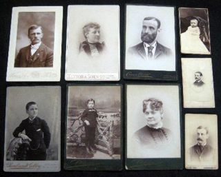 Circa 1880 (9) Photographs, Cartes-de-Visite & Cabinet Cards: Alldridge, Crane Art Co., Rembrandt...