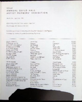 52nd Annual Guild Hall Artist Members' Exhibition March 18th - April 21st, 1990