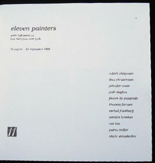 Eleven Painters Guild Hall Museum 10 August - 21 September, 1986
