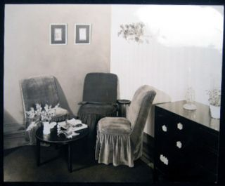 Circa 1930 Photograph of a Furnished Corner of a Room. Americana - 20th Century - Photography -...