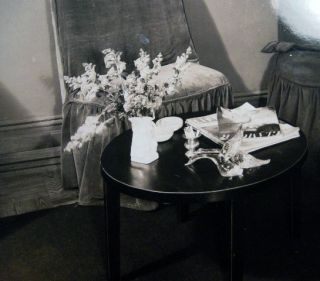 Circa 1930 Photograph of a Furnished Corner of a Room